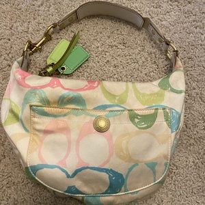 Vintage Coach Multicolor Baguette Bag